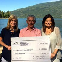 Taryn Jim Sharon with donation cheque from FVRD